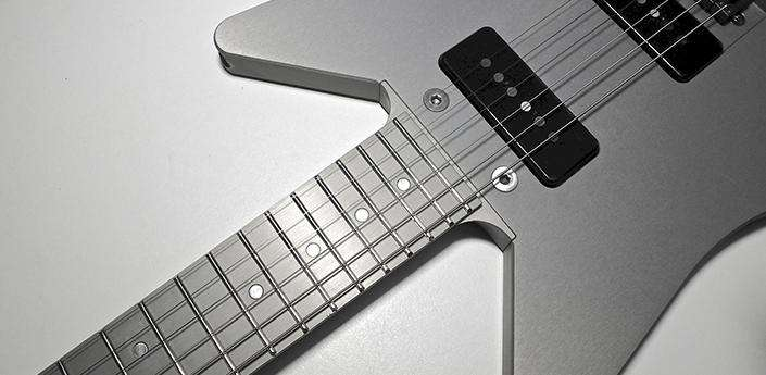 obstructures thing aluminum guitar. Black Bedroom Furniture Sets. Home Design Ideas